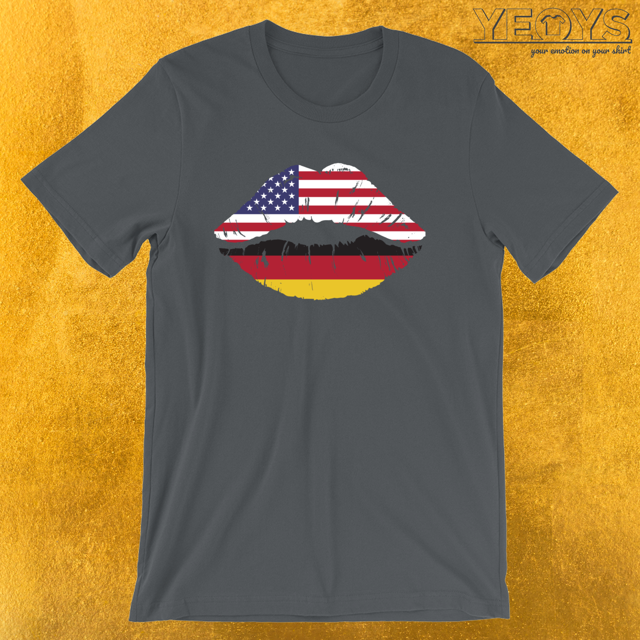USA Germany Kiss – Dual Citizenship Tee