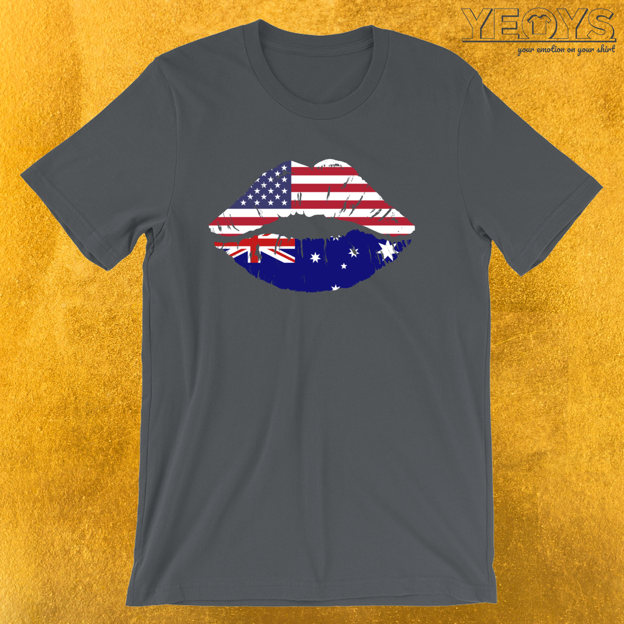 USA Australian Kiss – Dual Citizenship Tee