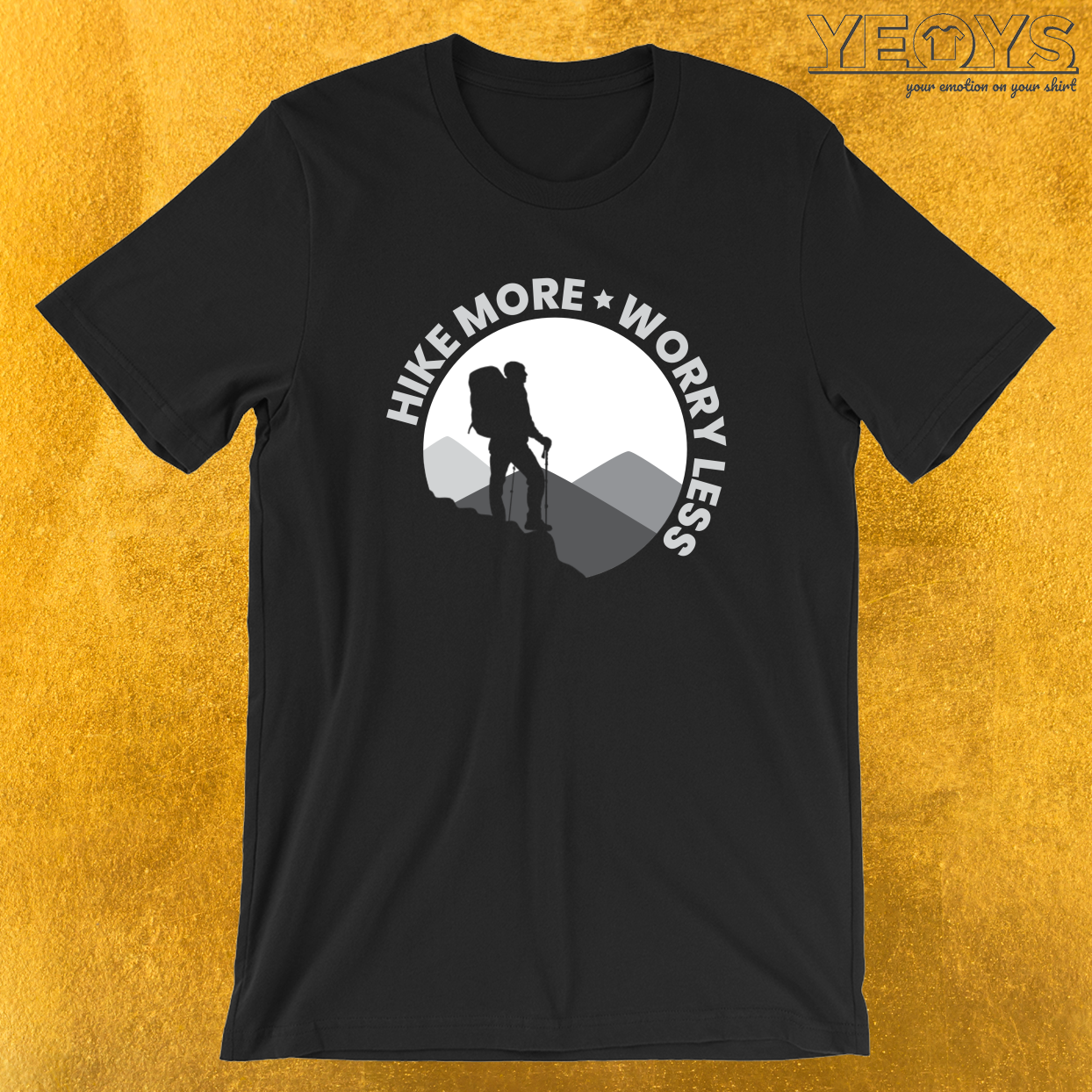 Hiking – Hike More Worry Less Tee