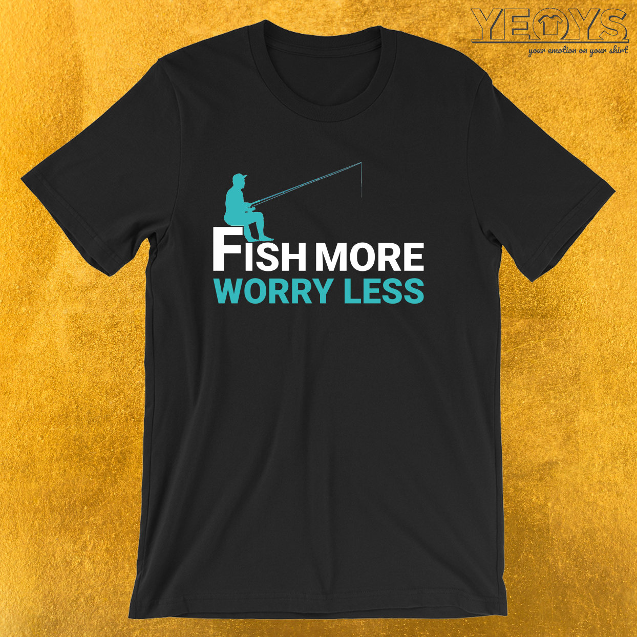 Fish More Worry Less – Old Fisherman Tee