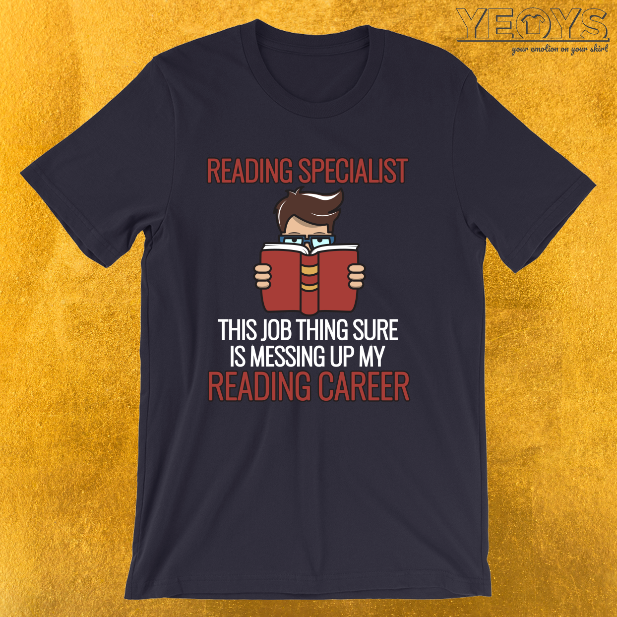Reading Specialist Career – Bookworm Tee