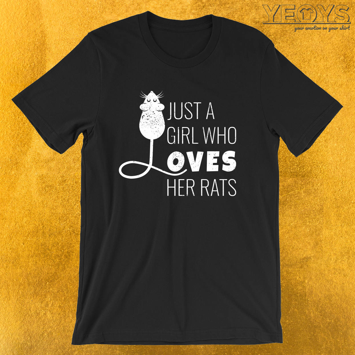 Just A Girl Who Loves Her Rats – Cute Rat Tee