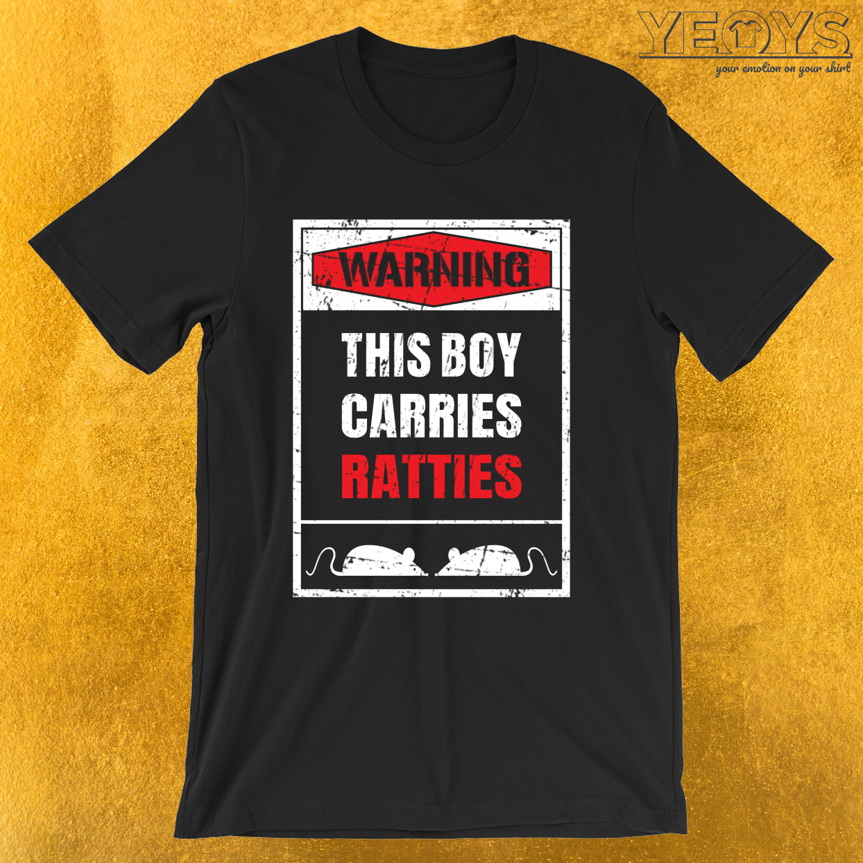 Warning This Boy Carries Ratties – Rat Dad Tee