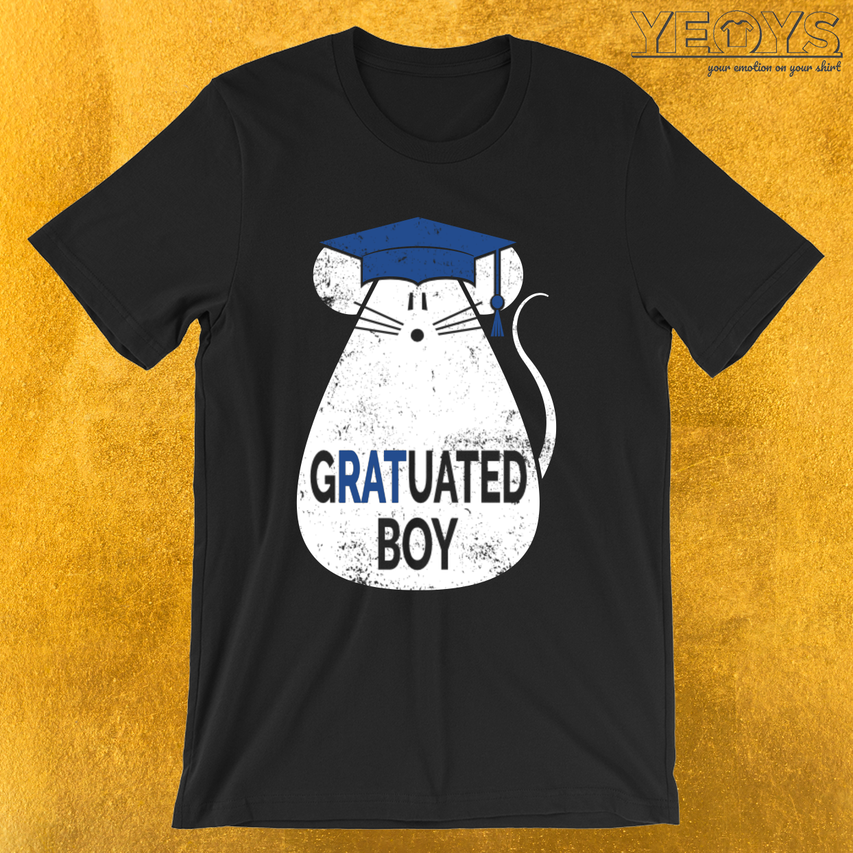 Gratuated Boy – Smart Rat Pun Tee