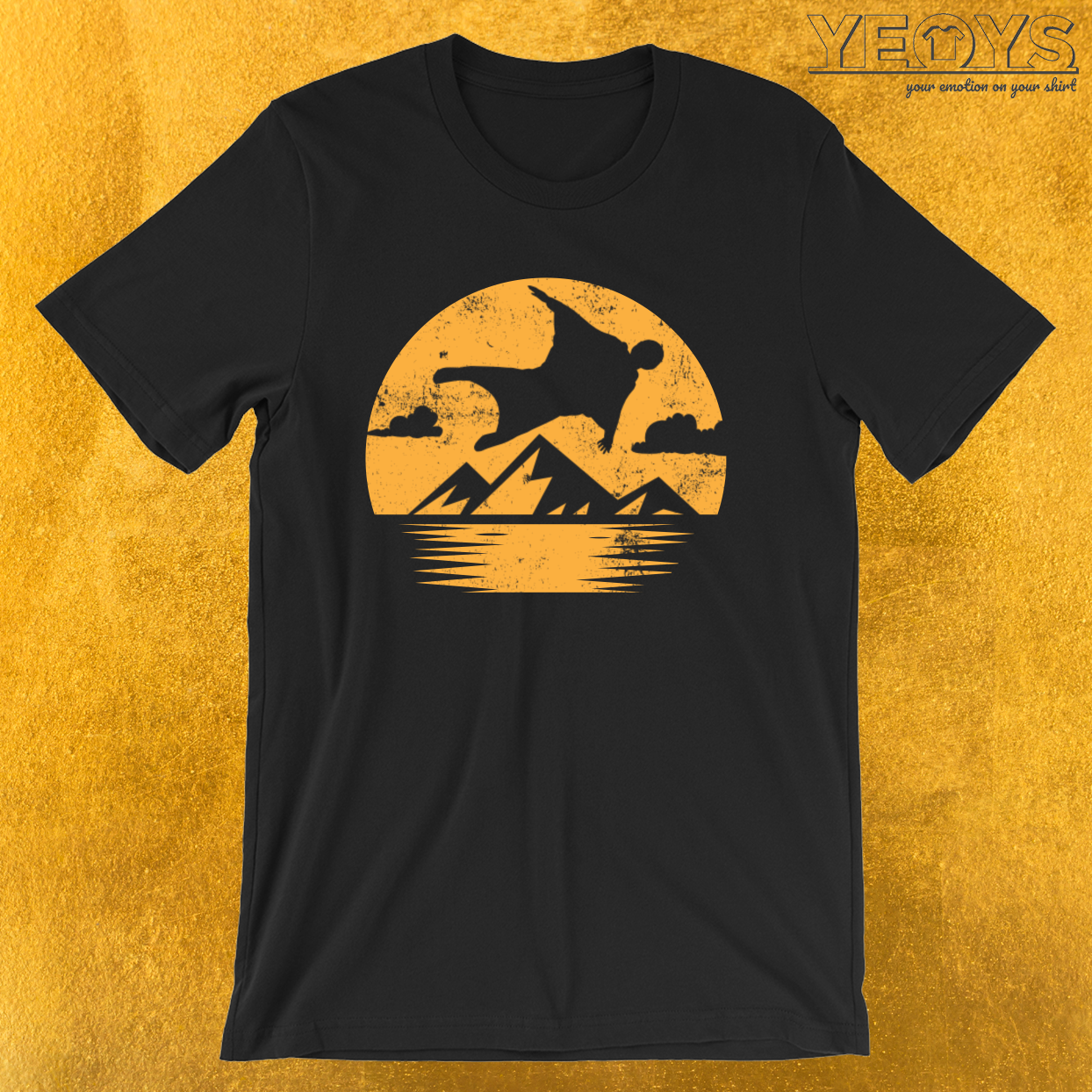 Sunset Wingsuit Flying – Base Jumping Tee