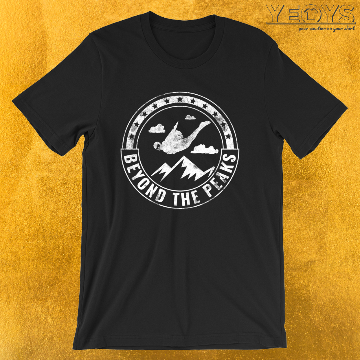 Beyond The Peaks – Wingsuit Flying Tee