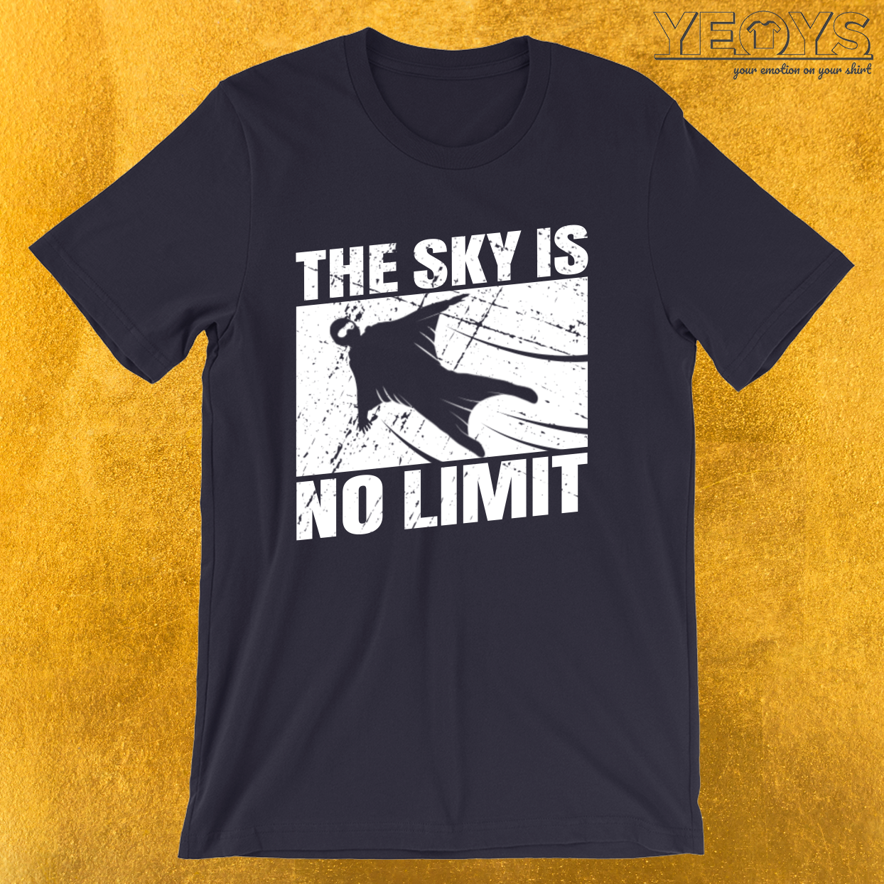 The Sky Is No Limit – Wingsuit Flying Tee