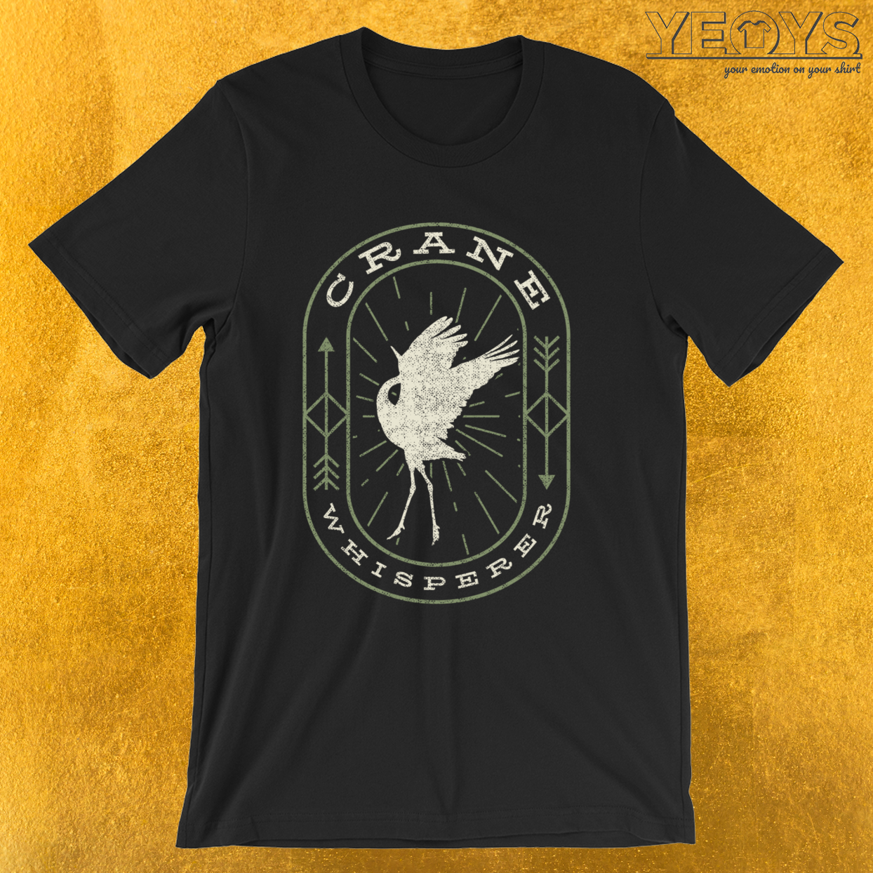 Crane Whisperer – Bird Watching Tee
