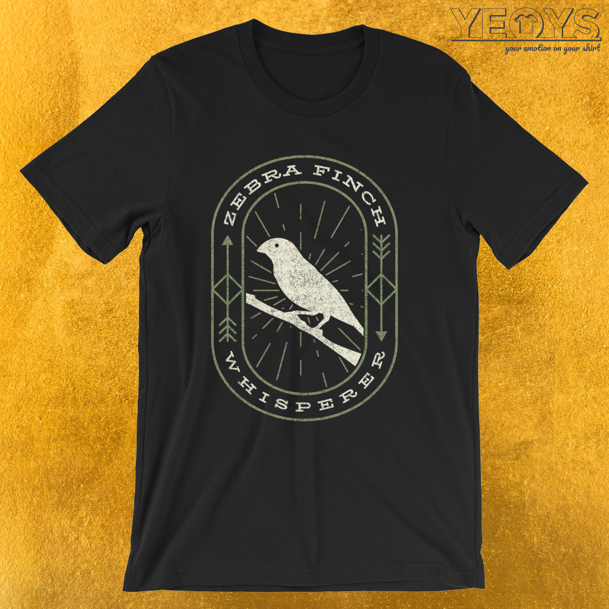 Zebra Finch Whisperer – Bird Watching Tee