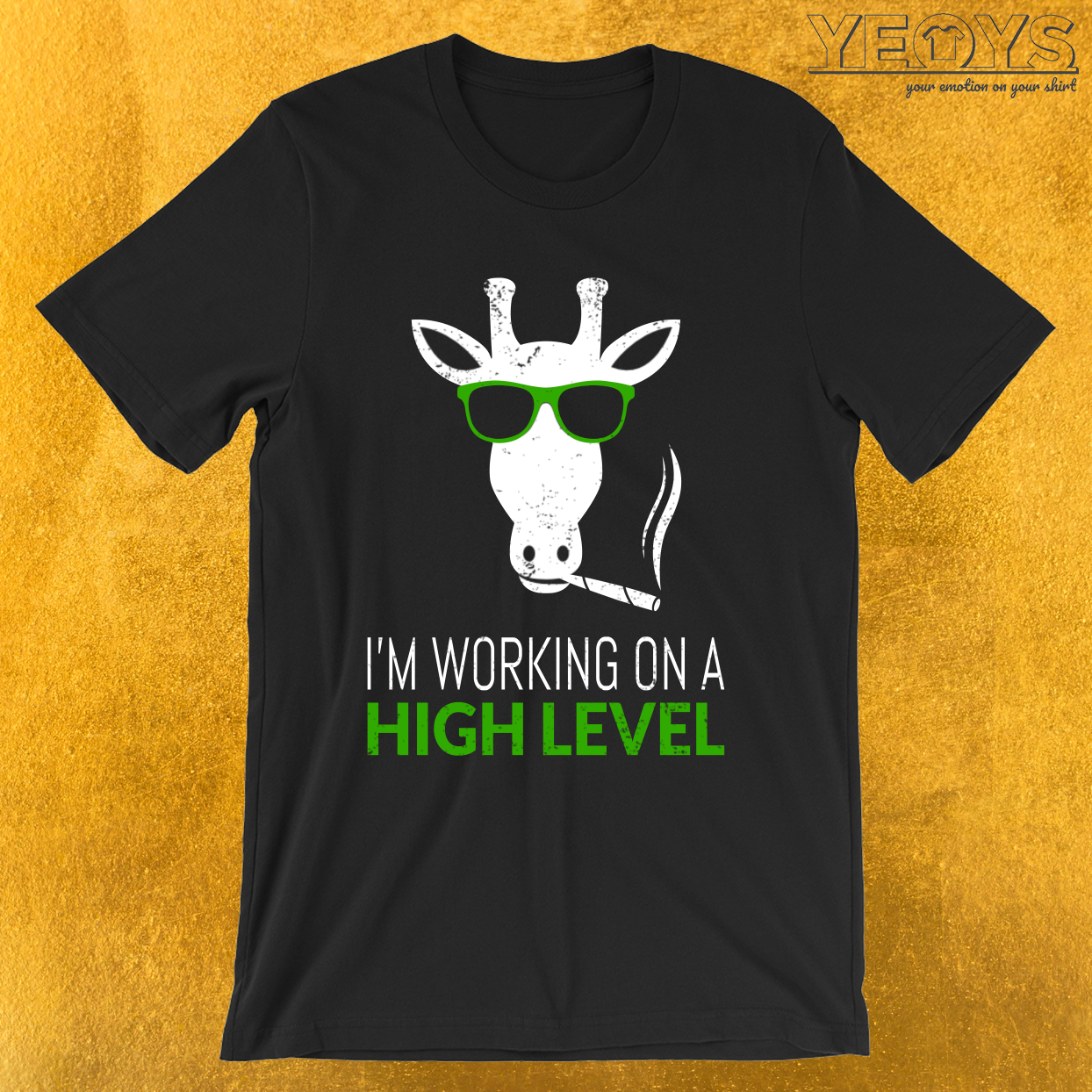 I'm Working On A High Level – Giraffe Pun Tee