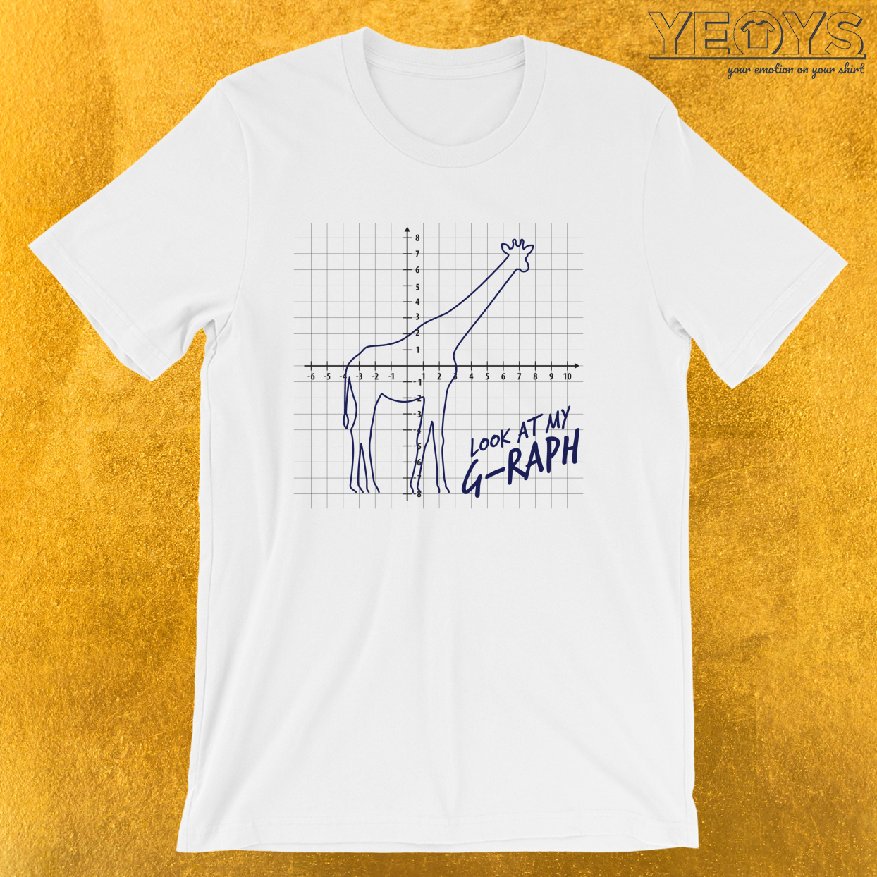 Look At My Graph – Giraffe Pun Tee