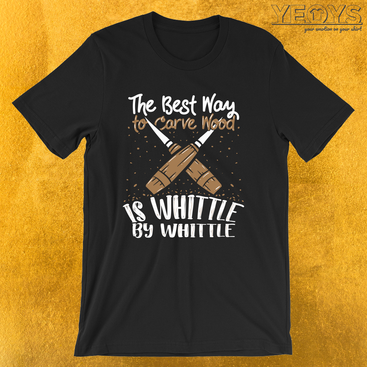 Best Way To Carve Wood Is Whittle By Whittle – Wood Carving Tee