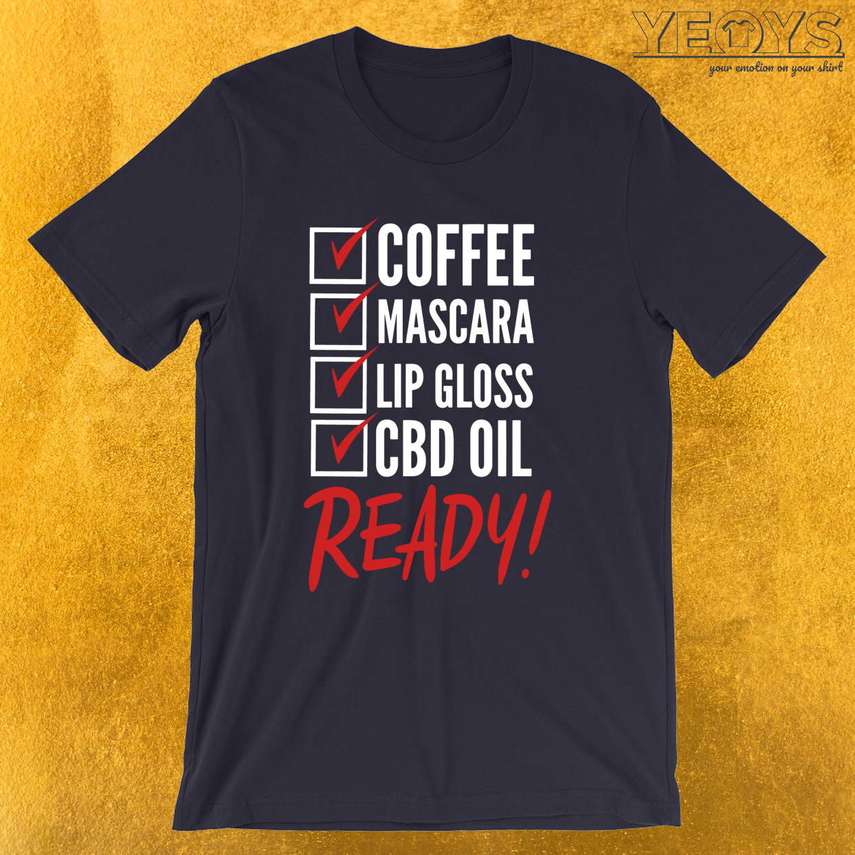 Coffee Mascara Lip Gloss CBD OIL Ready – CBD Oil  Tee