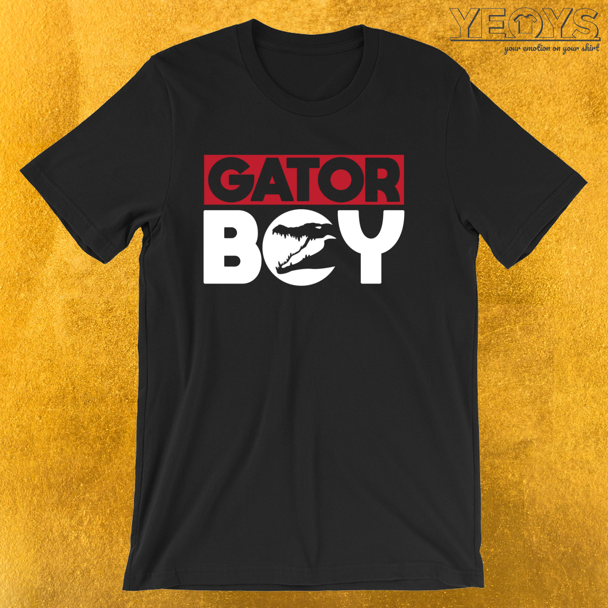 Gator Boy – Reptile Party Alligator Tee