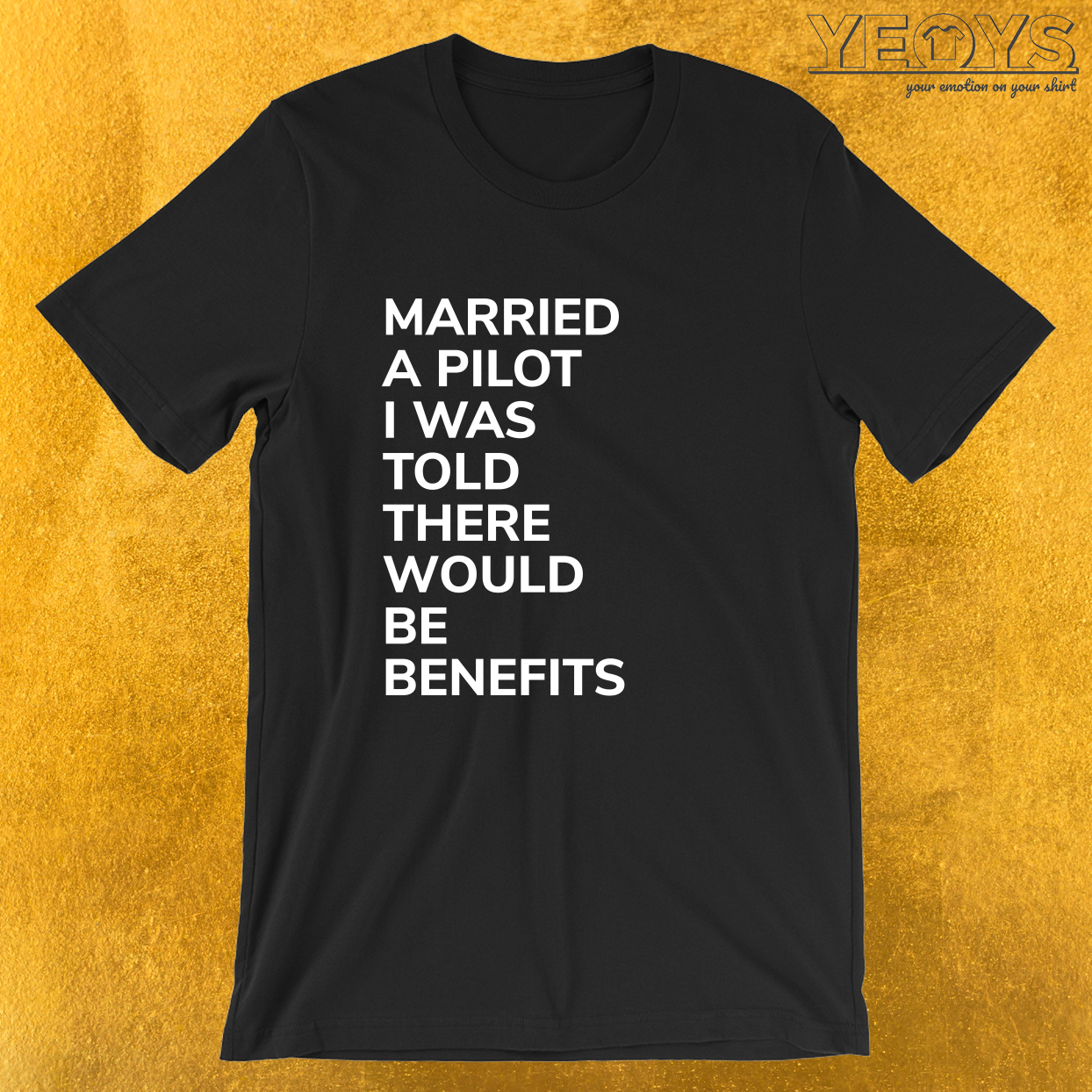 Married A Pilot Was Told There'd Be Benefits – Married Pilot Aviation Tee