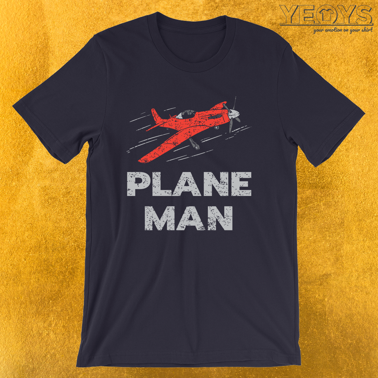 Plane Man – Cool Pilot Gifts Aviation Tee