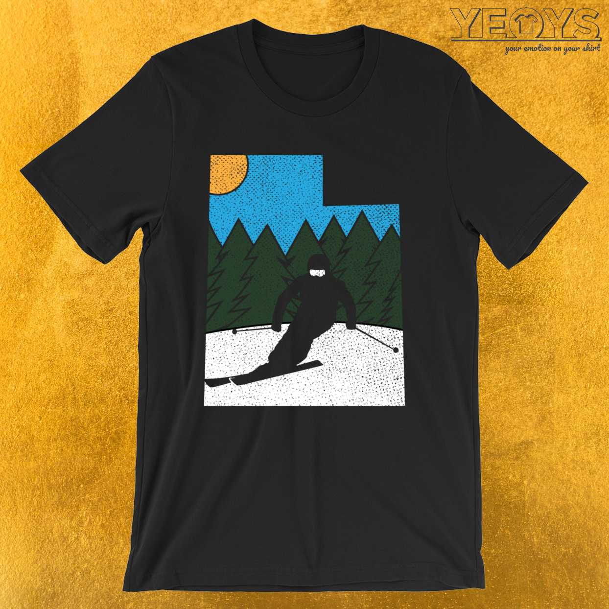Skier Drawing – Utah Skiing Tee