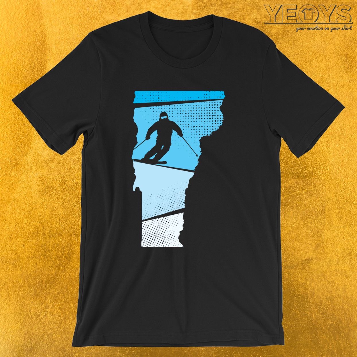 Skier Drawing – Vermont Skiing Tee