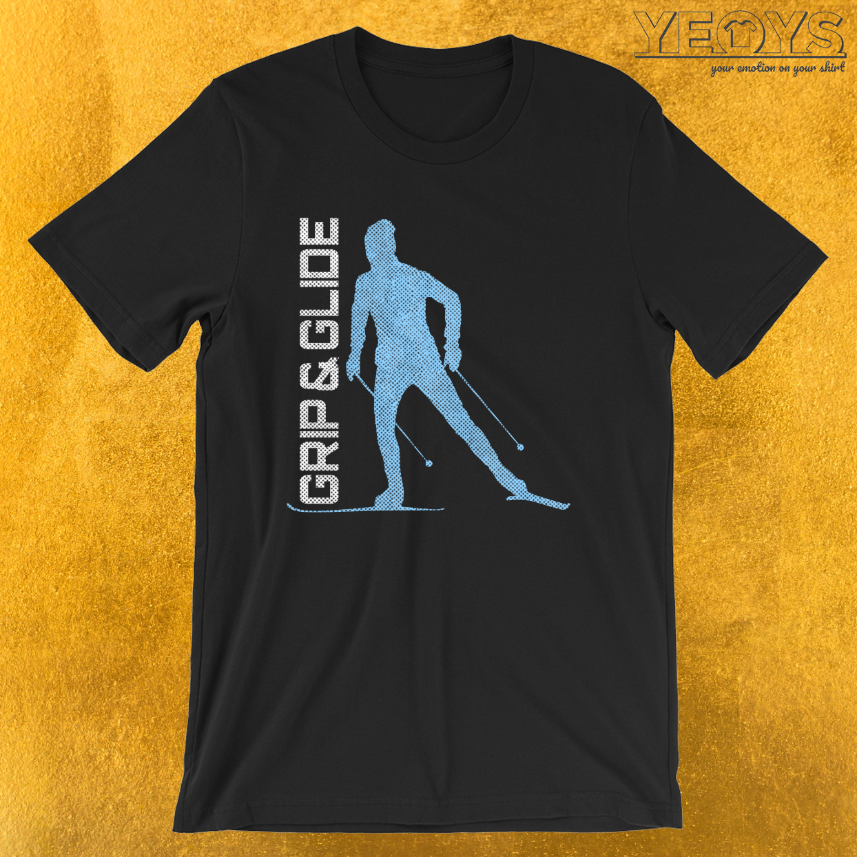 Grip & Glide – Cross Country Skiing Tee