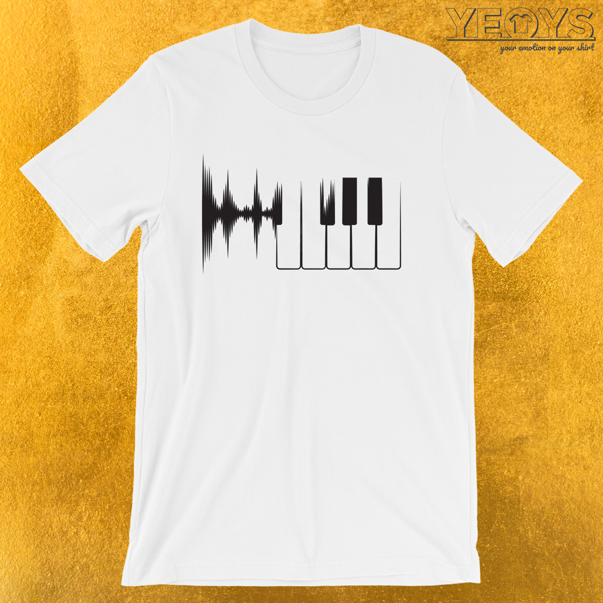 Piano Heartbeat – Funny Pianist Tee