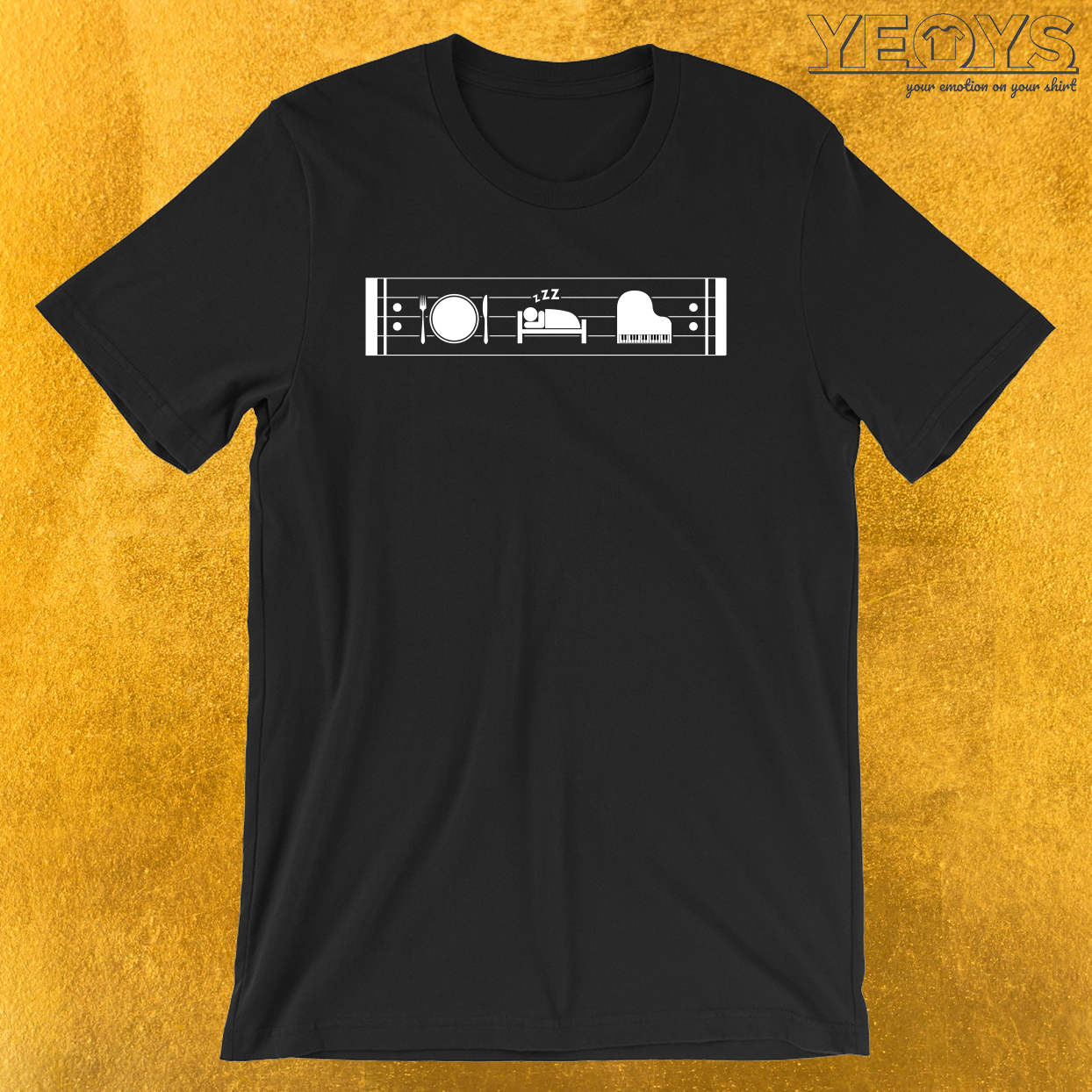 Eat Sleep Piano Repeat – Funny Pianist Tee