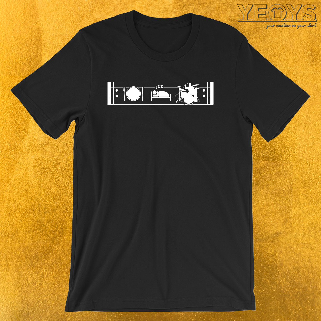 Eat Sleep Drums Repeat – Drummer Tee