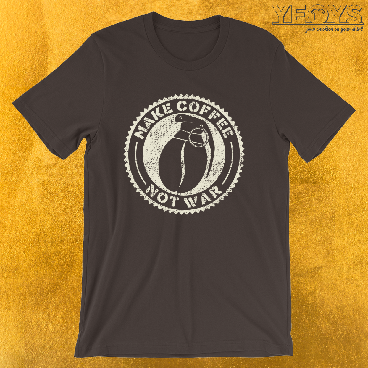 Make Coffee Not War – Barista Art Life Tee