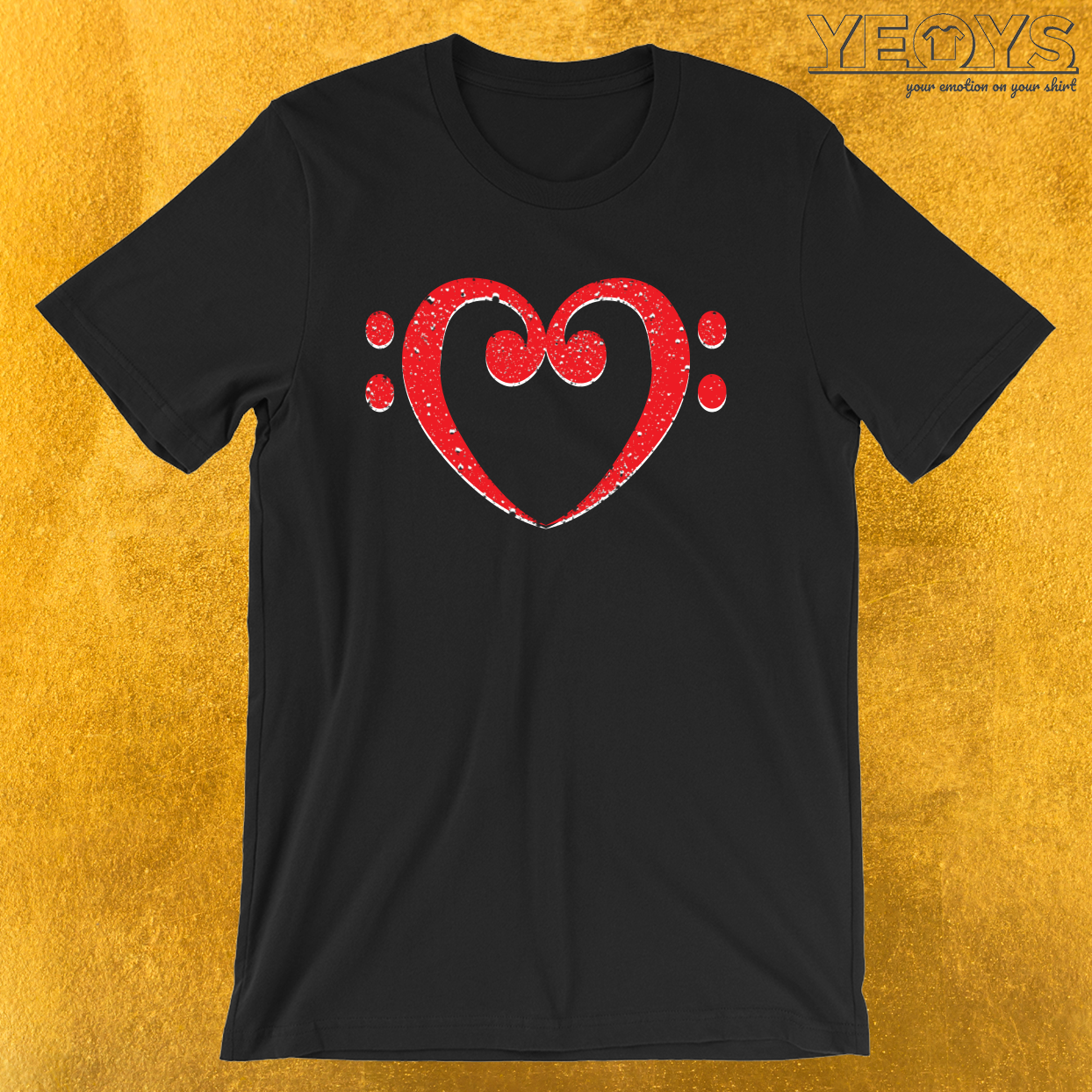 Funny Music Quotes – Bass Clef Heart Tee