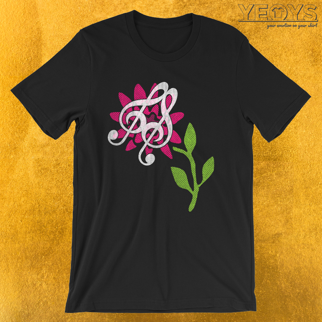 Funny Music Quotes – Treble Clef Butterfly Tee