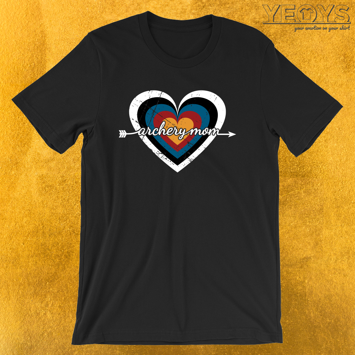 Archery Mom Target Heart – USA Archery Tee