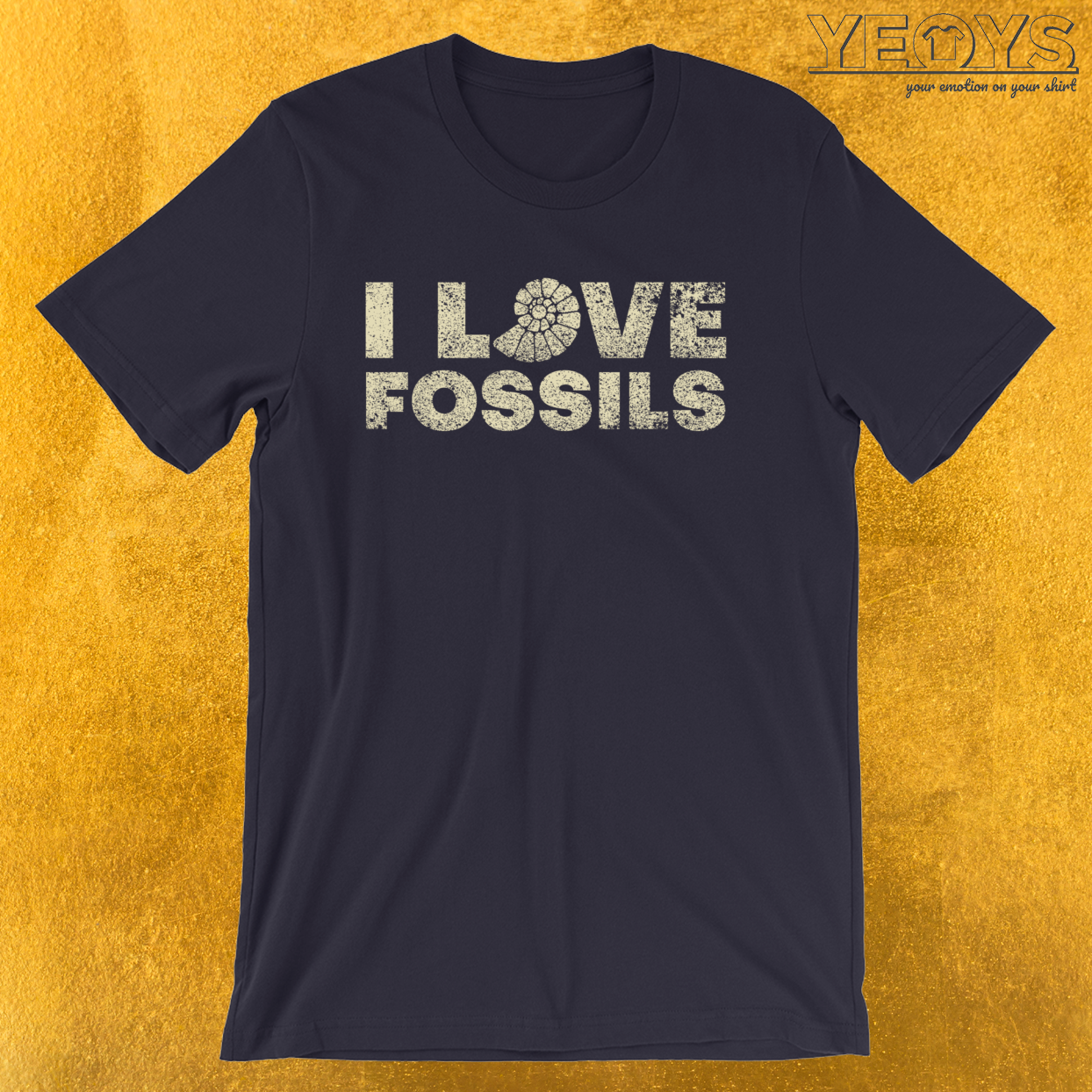 I Love Fossils – Fossil Hunting Geologist Tee