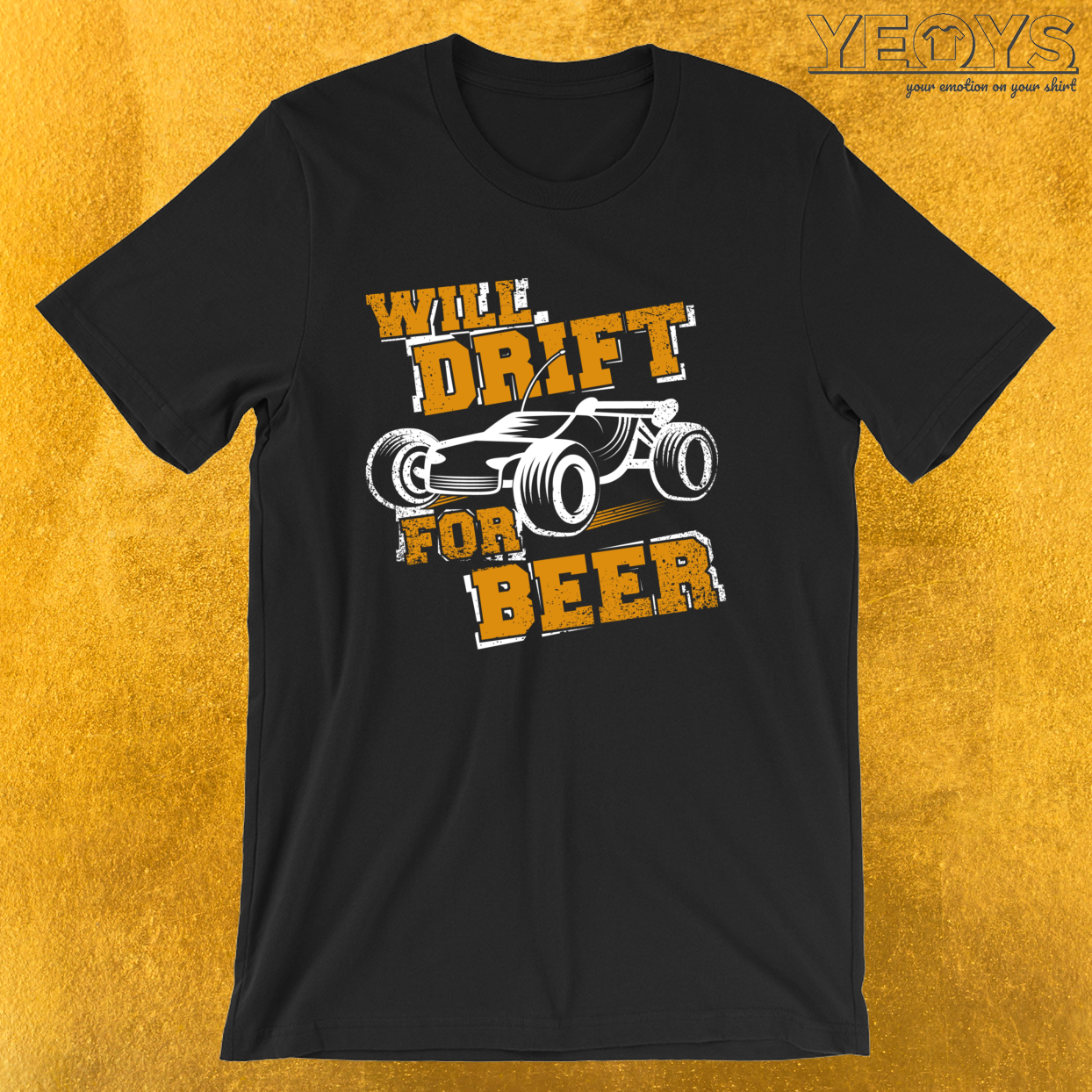 Will Drift For Beer – Racing RC Cars Drifting Tee