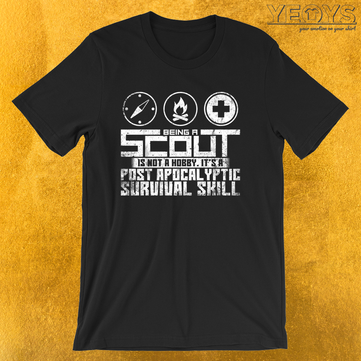 Post Apocalyptic Survival Skill – Girl & Boy Scout Tee