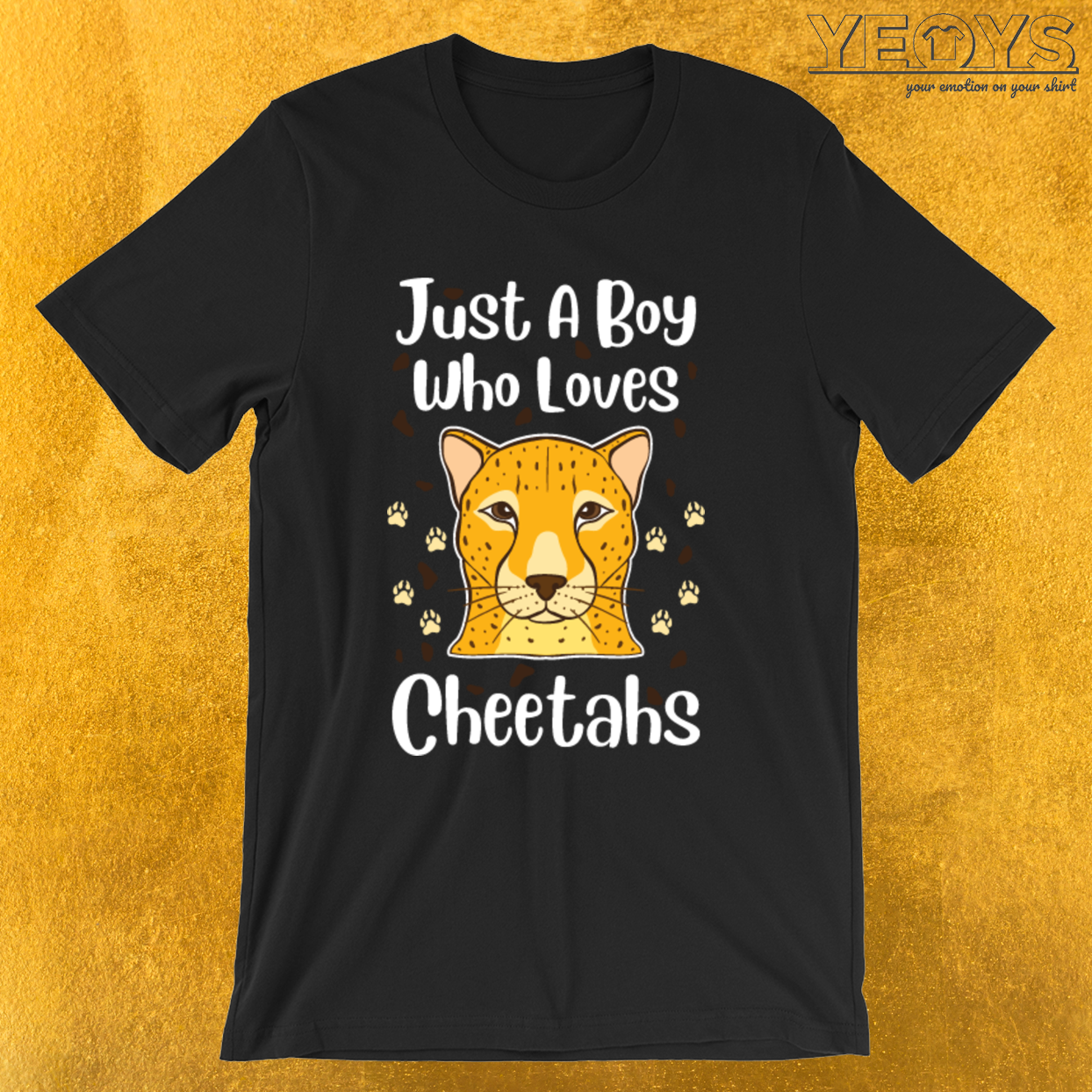 Just A Boy Who Loves Cheetahs – Cheetah Tee