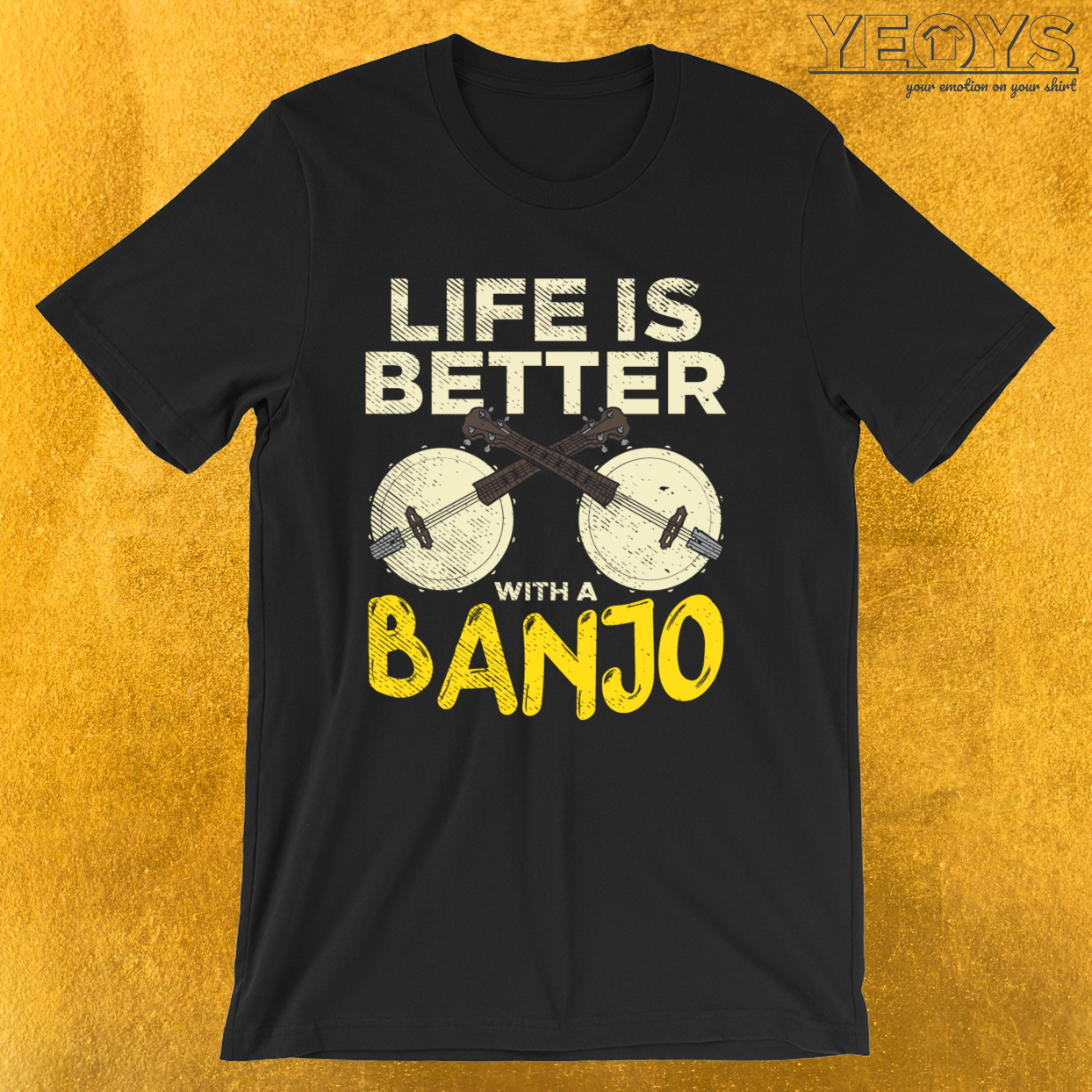 Life Is Better With A Banjo – Banjo Ukulele Tee
