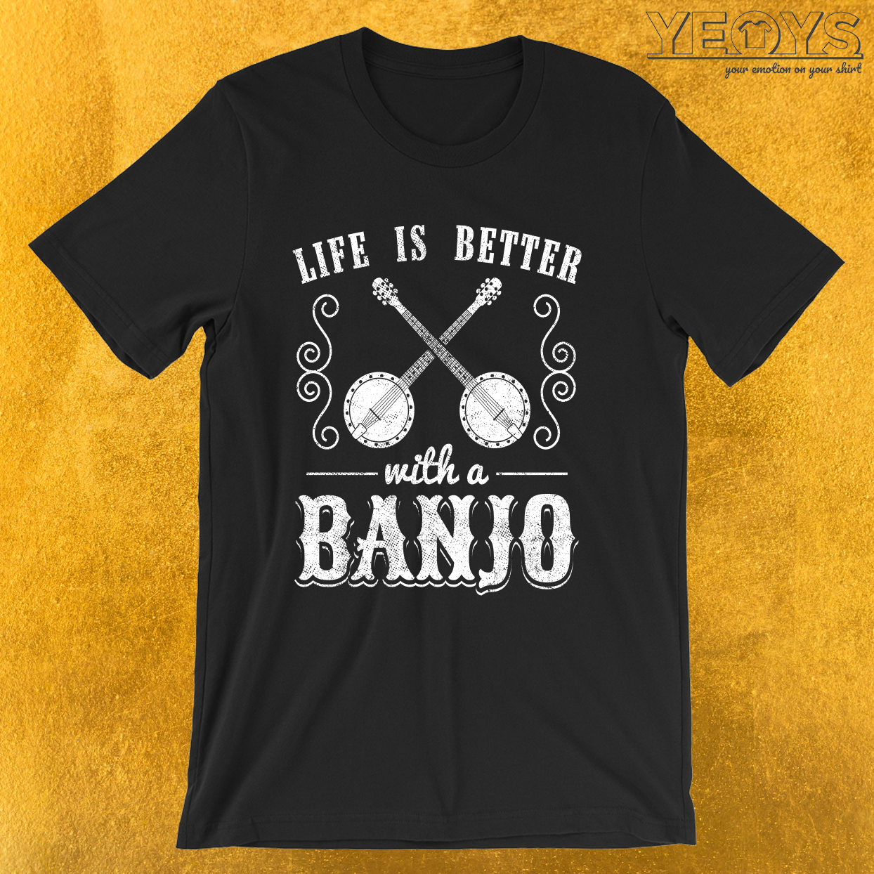 Banjo Ukulele – Life Is Better With A Banjo Tee