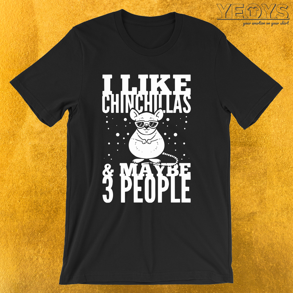 I Like Chinchillas & Maybe 3 People – Funny Chinchilla Tee